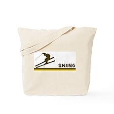 Retro Skiing  Tote Bag