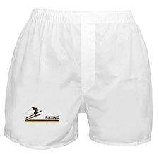 Retro Skiing  Boxer Shorts