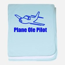 Funny Airplane Pilot baby blanket
