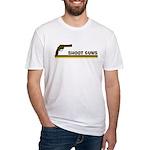 Retro Shoot Guns Fitted T-Shirt