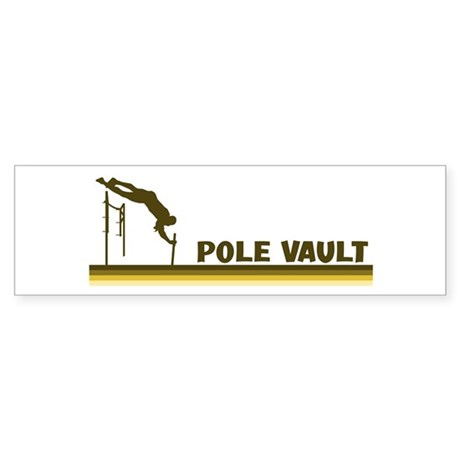 Retro Pole Vault Bumper Sticker