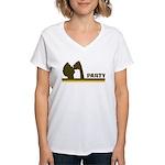 Retro Party Women's V-Neck T-Shirt