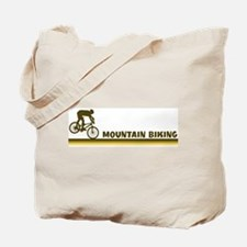 Retro Mountain Biking Tote Bag