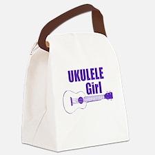 Girls Ukulele Canvas Lunch Bag