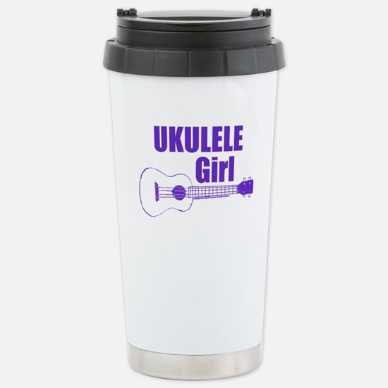 Girls Ukulele Travel Mug