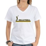 Retro Mens Volleyball Women's V-Neck T-Shirt