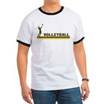 Retro Mens Volleyball Ringer T