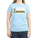 Retro Mens Volleyball Women's Light T-Shirt