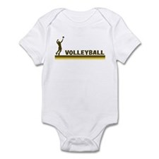 Retro Mens Volleyball Infant Bodysuit