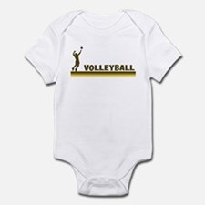 Retro Mens Volleyball Infant Bodysuit
