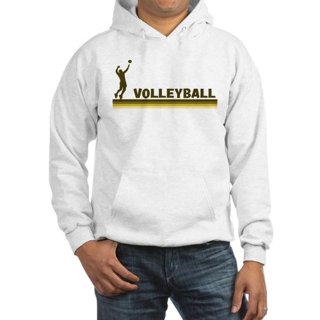 Retro Mens Volleyball Hooded Sweatshirt