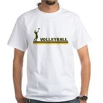Retro Mens Volleyball White T-Shirt