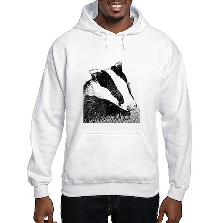 Badger Face Drawing Hooded Sweatshirt