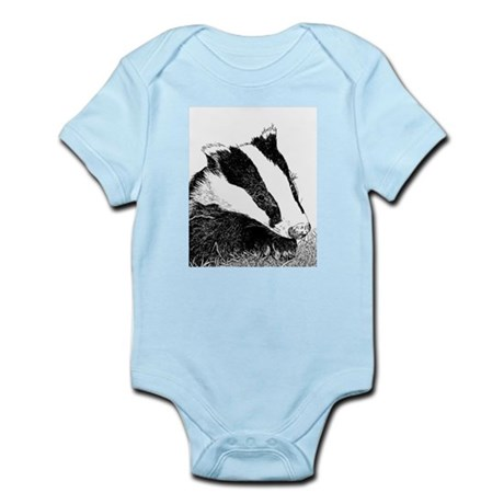 Badger Face Drawing Infant Creeper