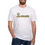 Retro Marijuana Fitted T-Shirt