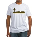 Retro Jump Rope Fitted T-Shirt