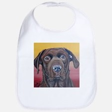 Chocolate Lab Dog Bib
