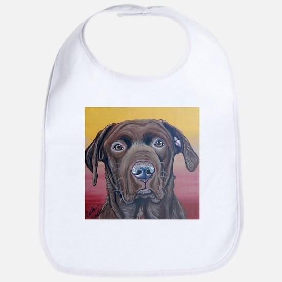 Chocolate Lab Dog Bib