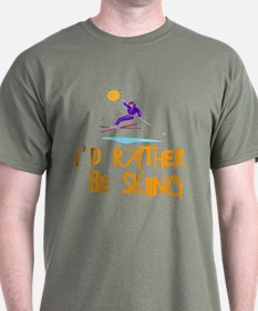 SportChick's SkiChick Rather be skiing T-Shirt