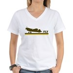 Retro Fly Women's V-Neck T-Shirt
