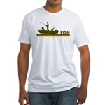 Retro Fish Fitted T-Shirt