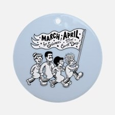 March for Science II Round Ornament
