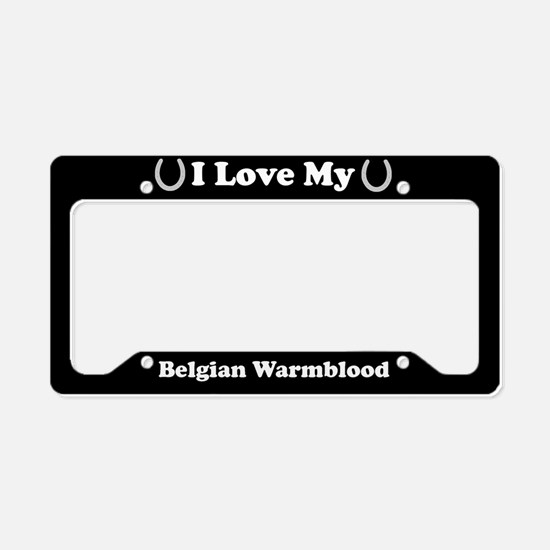 I Love My Belgian Warmblood Horse License Plate Ho