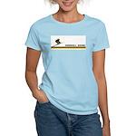 Retro Downhill Skiing Women's Light T-Shirt