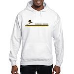 Retro Downhill Skiing Hooded Sweatshirt
