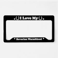 I Love My Bavarian Warmblood Horse License Plate H