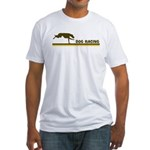 Retro Dog Racing Fitted T-Shirt