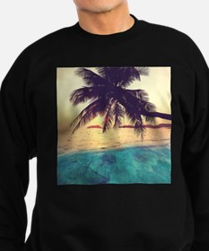 Tropical Beach Sweatshirt (dark)