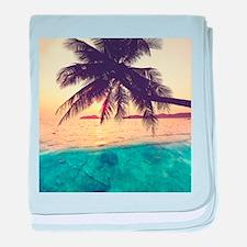 Tropical Beach baby blanket