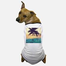 Tropical Beach Dog T-Shirt