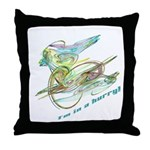 Motocyclist Throw Pillow