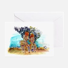 Burning Man Card Greeting Cards