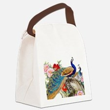Traditional Chinese Peacocks Canvas Lunch Bag