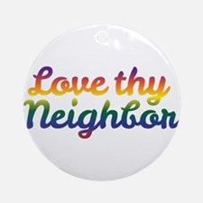 Neighbor Love Round Ornament
