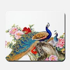 Traditional Chinese Peacocks Mousepad
