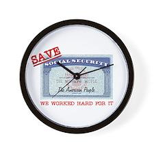 SAVE Social Security Wall Clock