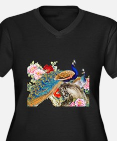 Traditional Chinese Peacocks Plus Size T-Shirt
