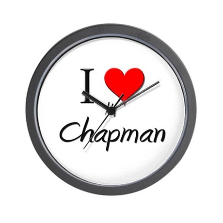 I Love My Chapman Wall Clock