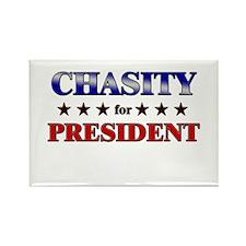 CHASITY for president Rectangle Magnet