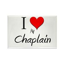 I Love My Chaplain Rectangle Magnet (10 pack)