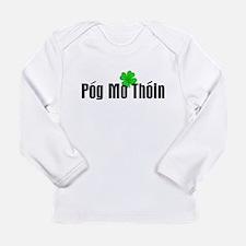 Pog Mo Thoin Text Long Sleeve T-Shirt