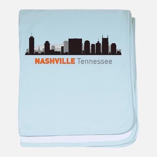 Nashville Tennessee baby blanket