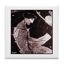 Sappho Tile Coaster