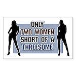 Two Women Short Rectangle Sticker