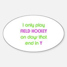 SportChick's HockeyChick Days Oval Decal