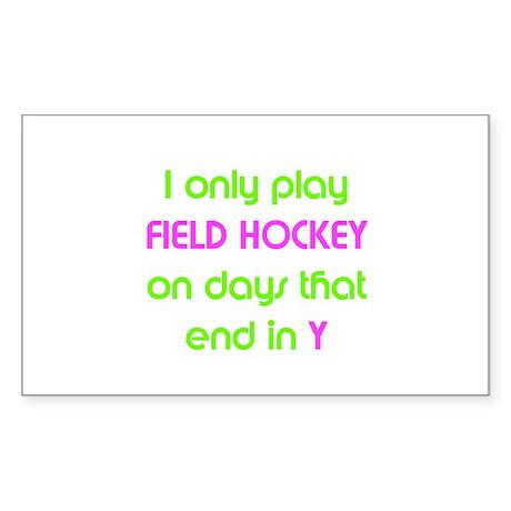 SportChick's HockeyChick Days Sticker (Rectangular